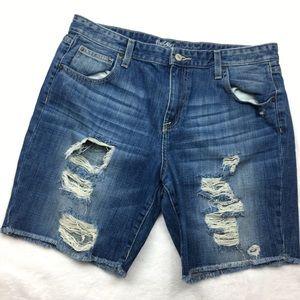 Mossimo boyfriend distressed shorts Bermudas